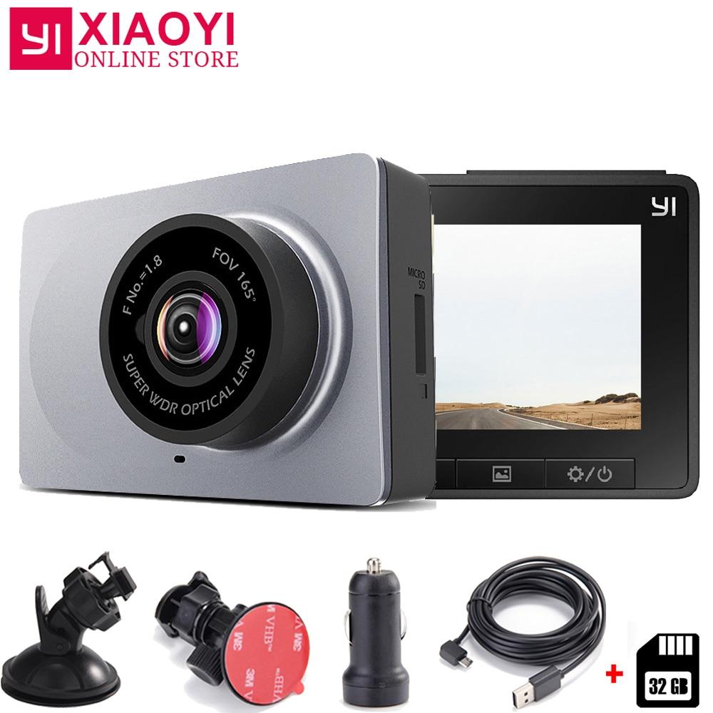 Xiaomi YI Smart Dash камера автомобильный dvr 165 градусов 1080 P 60fps автомобильный детектор 2,7 ADAS безопасное напоминание Dashcam [Международное издание]