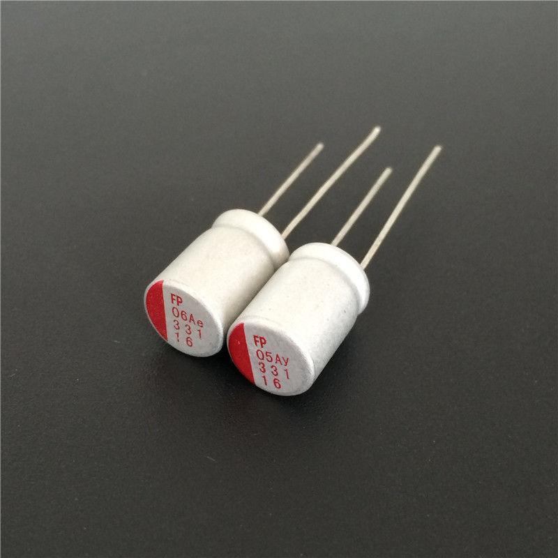 10pcs 330uF 16V FP 8x12mm Top Grade 16V330uF Solid Electrolytic Capacitors