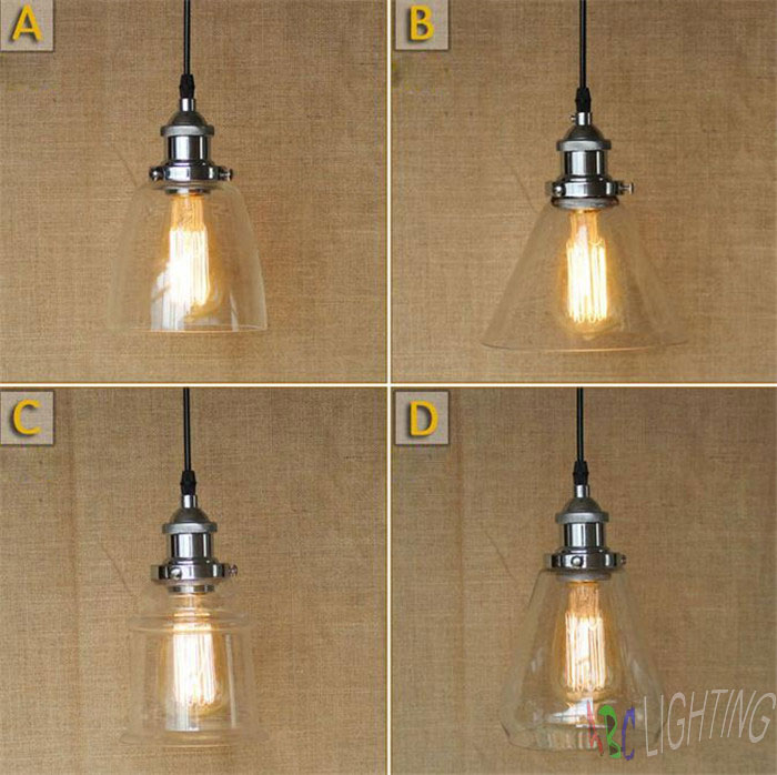 ФОТО Chrome Light Glass Lamp Industrial Edison Retro Vintage 40W NEW Pendant lights chrome plated pendente de cristal para quarto
