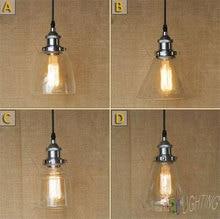 Chrome Light Glass Lamp Industrial Edison Retro Vintage 40W NEW Pendant lights chrome plated pendente de cristal para quarto