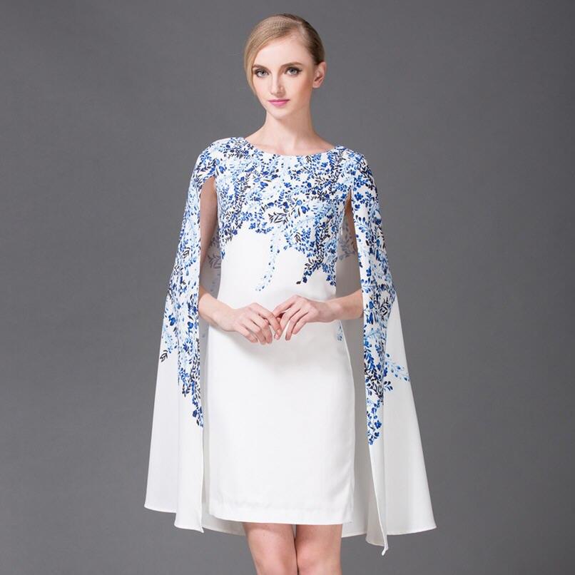 Print Classique Printemps 2017 Bleu Chinois Jc50 Courte Vent Mode Robe Et Cape Manteau Impression Piste Porcelaine Été Blanc HTwqddrE