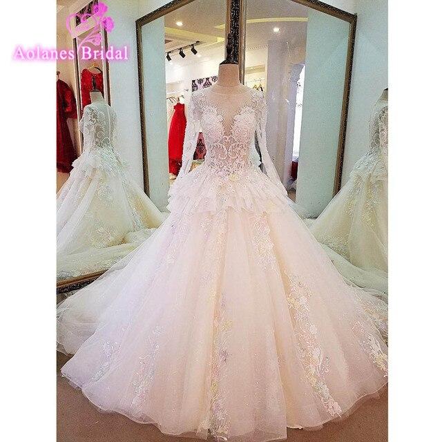 Vestido de Noiva Prinzessin Arabische Hochzeitskleid 2017 Langarm ...
