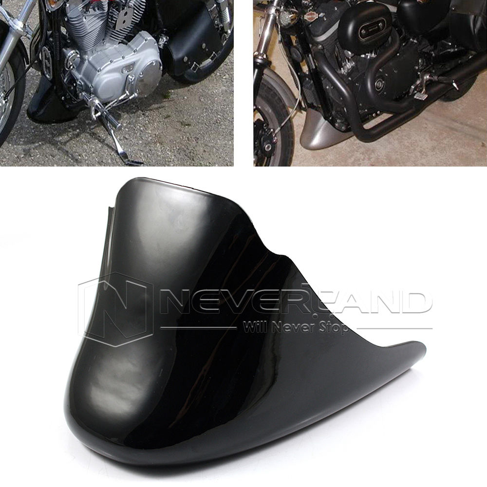 Motorcycle Chin Fairing Front Spoiler Mudguard Cover Bracket For Harley Sportster CUSTOM ROADSTER XL883 XL1200 2004