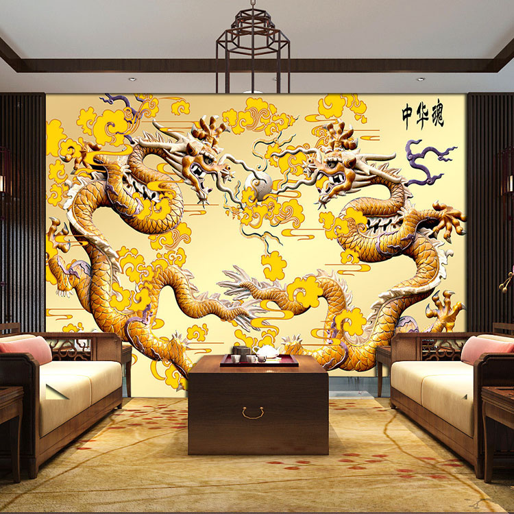 Compare prices on chinese cork carving online shopping for Dragon mural for wall
