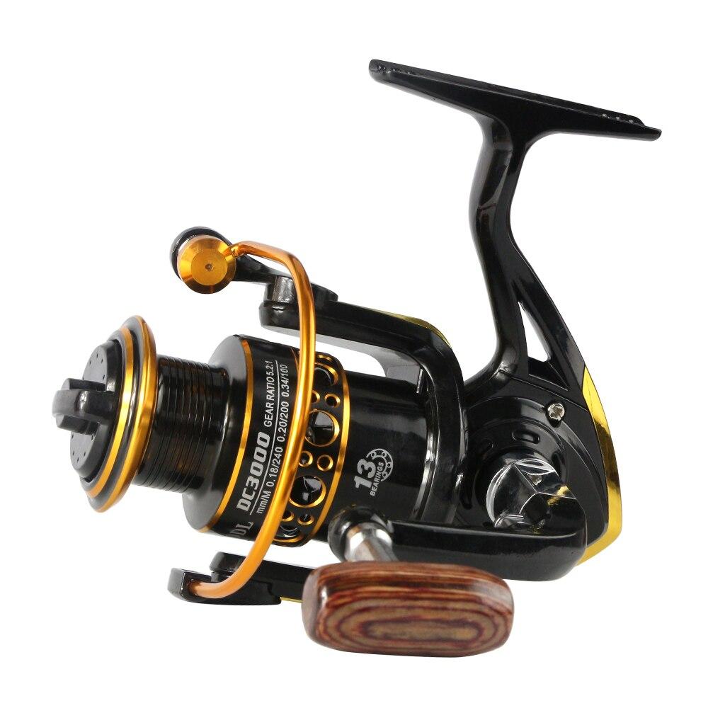 Metal spool wheels spinning reel 5.2:1 13 Ball Bearing fishing reel 1000-7000series carretilhas de pescaria molinete