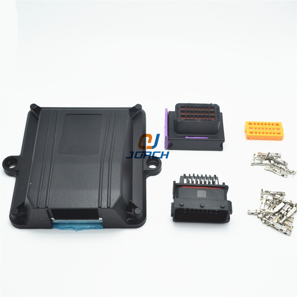 1 Kit Set 24 Pin Way ECU Automotive Plastic Enclosure Box Case Motor Car LPG CNG Conversion ECU Controller With Auto Connectors