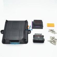 1 zestaw zestaw 24 pin way ECU automotive plastikowa obudowa case pojazd silnikowy sterownik konwersji LPG CNG ECU z automatyczne złącza