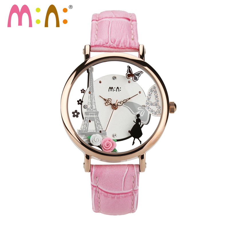 Relogio Feminino Luxury Brand Women Watches 3D Tower Ladies Watch Female Cartoon Bracelet Watch Woman Clock Women Montre Femme minimi cotone 160
