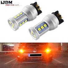 IJDM Amber PW24W LED Canbus hata ücretsiz PWY24W LED ampuller Audi A3 A4 A5 Q3 VW MK7 Golf CC ford Fusion ön dönüş sinyal ışıkları