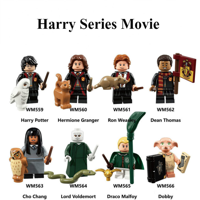 Harry Series toy Potters Dobby Moody Dumbledore Quirrell Filch Voldemort Dean Thomas Building Blocks Gift Toys