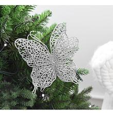 6 x Christmas Butterfly 3″/8cm Christmas Decorations Christmas Tree Ornaments Wedding Party Decorations
