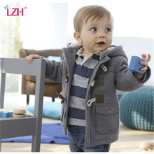Infant Baby Jacket 2019 Autumn Winter Jacket For Baby Coats Kids Warm Hooded Outerwear Coat For Baby Boys Clothes Newborn Jacket(China)