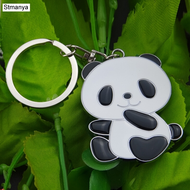 Panda Keychain New Cute Panda Keychain For Bag Car Key Ring Tourism Souvenir Gifts Key Chains #17072-1