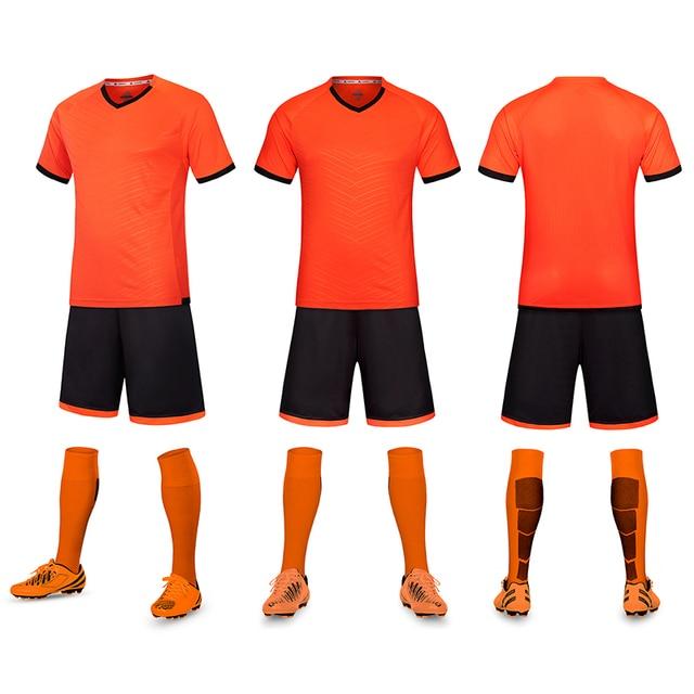 e04709592ab3 High Quality Men Child Kids Football Kit 2017 Soccer Jersey Kids Sets Suit  Team Custom Tram Training Football Shirts Jersey