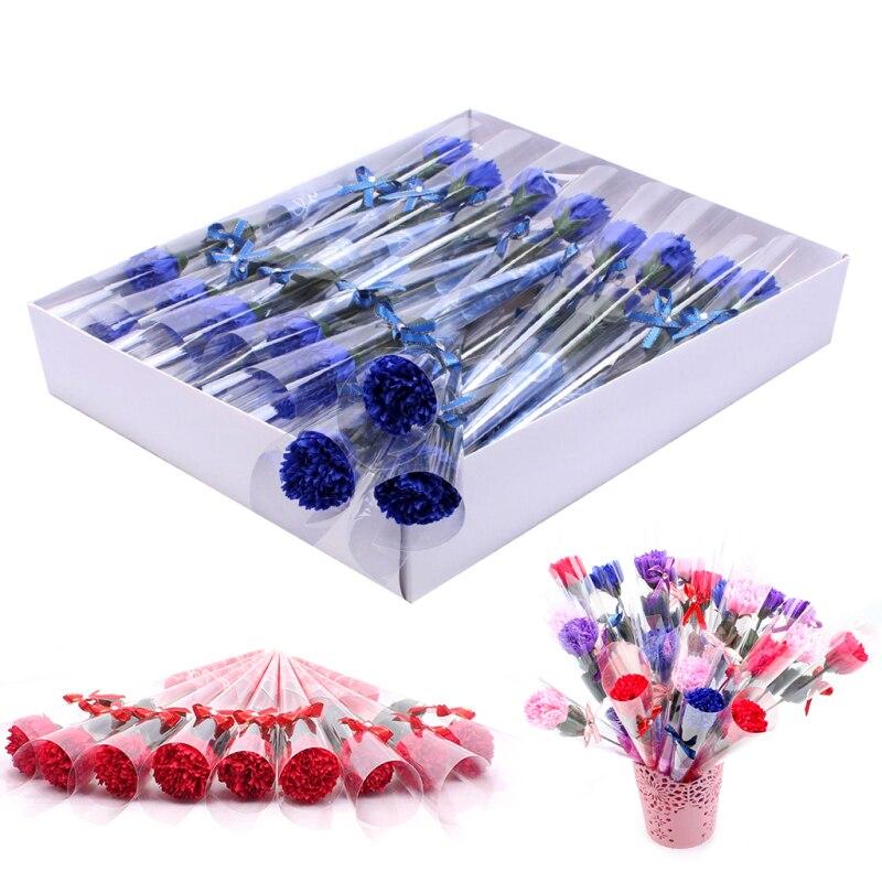 Cleaner Carnation Flower-Shape Wedding-Gift Anti-Bacteria Creative Soap 32pcs Beautiful