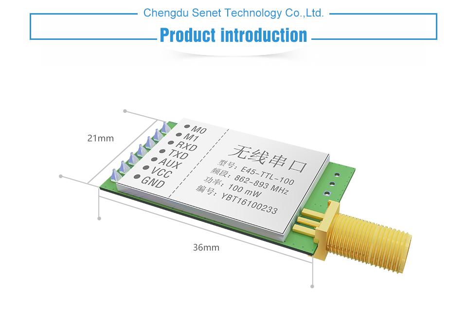 E45-TTL-100 SX1276 868MHz LoRa Module (1)