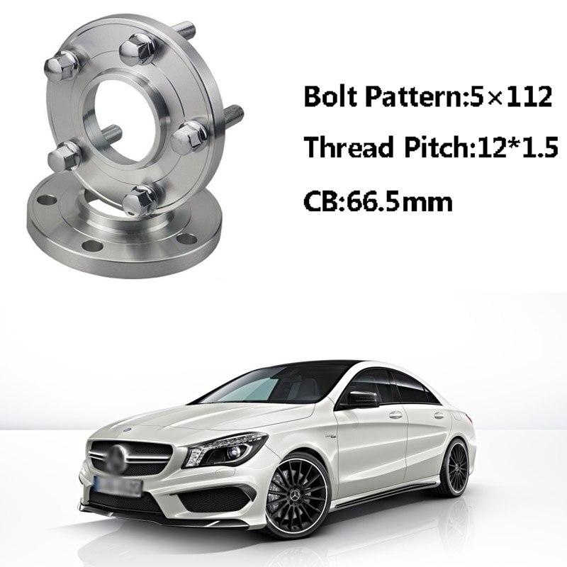 2 pièces 5x112 66.5CB Centric Entretoise De Roue Moyeux M14 * 1.5 Boulons Pour Benz Classe CLA Classe B