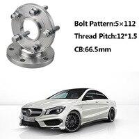 2pcs 5x112 66.5CB Centric Wheel Spacer Hubs M14*1.5 Bolts For Benz CLA Class B Class