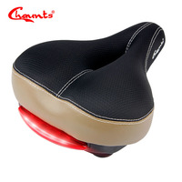 Chaunts New Bicycle Saddle With Rear Light Ergonomic MTB Road Mountain Bike Seat Soft Breathable Wide Cycling Riding Bike Saddle