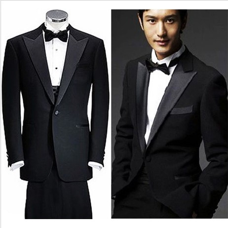 Aliexpress.com : Buy Trendy Fashion Wedding Black Suits Groom ...