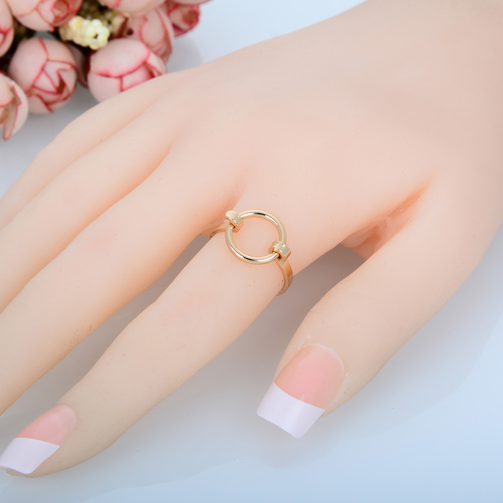 Aliexpress.com : Buy Hot Sale Simple Ring Gold/Silver Plated Round ...