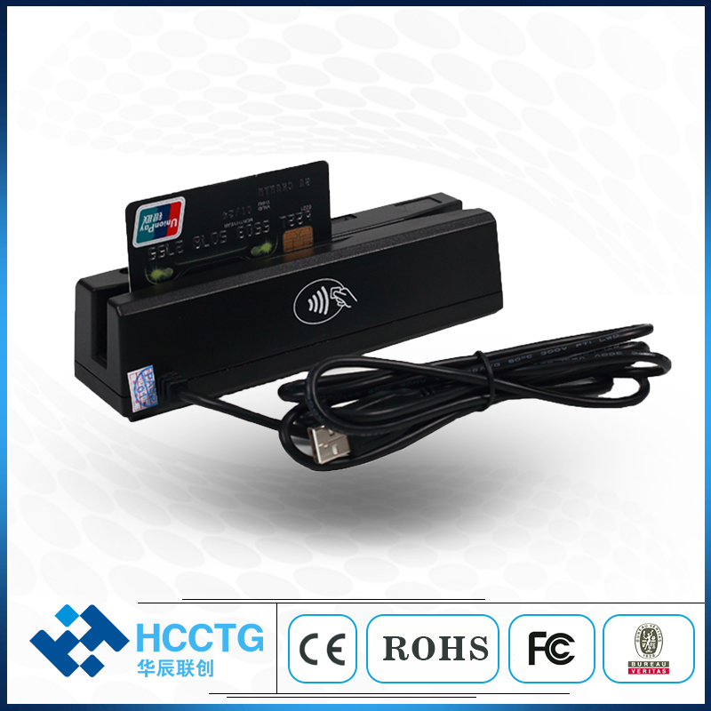MSR & IC Chip Card Combo HCC100 Stripe USB 1 2 3 Tracks Strip And IC Combo For Bank Card Payment