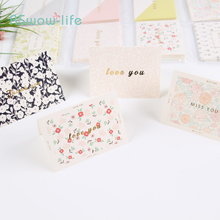 96pcs Cute Thank You Greeting Card Holiday Gift Birthday Gilding Text Anniversary Postcard Festival Party Supplies