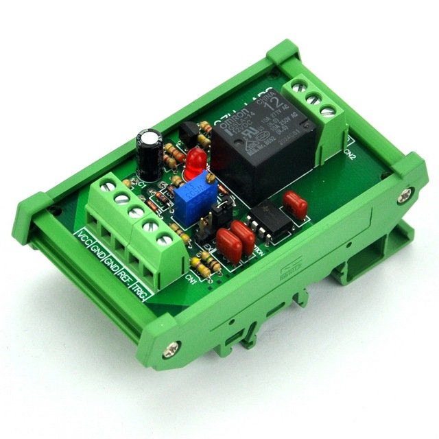 DIN Rail Mount Voltage Comparator Relay Module, DC12V, SPDT 10A Relay.