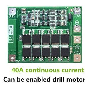Image 2 - 3 S 40A Caricatore di Batteria Al Litio Protezione Bordo PCB BMS Li Ion Per Trapano Motore 11.1 V 12.6 V Lipo Cellulare modulo con Equilibrio