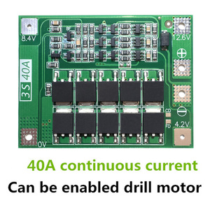 Image 2 - 3S 40A Li ion Lithium Battery Charger Protection Board PCB BMS For Drill Motor 11.1V 12.6V Lipo Cell Module with Balance