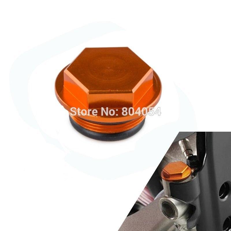 Orange CNC Billet Rear Brake Reservoir Cap Fits For Husaberg TE/FE/FS/FX 2009-2014 Husqvarna 2014-2015 nicecnc cnc billet brake clutch