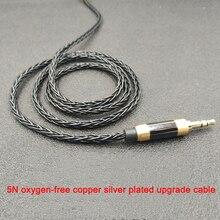 8strands супер прочная леска 200 ядра кабель для наушников MMCX для Shure SE215 A2DC Ls50 IE80 Im50 0,78 мм 2 pin для Уэстон TFZ W4r TF10 TF15