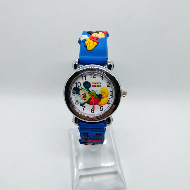 Children Cartoon Mickey Minnie Wach Girls Boys Kids Watches Silicone Quartz Wris