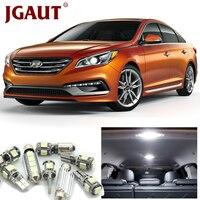JGAUT For 2011 2012 2013 2014 Hyundai Sonata White Car LED Light Bulbs Interior Package Kit