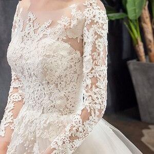 Image 4 - Mrs Win vestidos De novia De manga larga, novedad del 2020 en vestidos De encaje De lujo para baile musulmán, Vestido De boda hecho a medida, Vestido De novia X