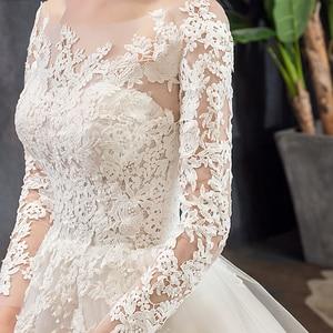 Image 4 - Mrs win vestido de casamento manga longa, vestido de noiva luxuoso, feito sob encomenda, 2020 x x