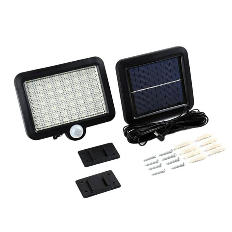 Waterproof Outdoor Solar Wall Light with 56 LED with PIR Motion Sensor for Garage and Yard 3