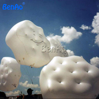 AO051 BENAO Free shipping 1.5m Inflatable Cloud helium balloon for sale/Inflatable sky helium balloon for advertising