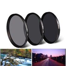 CAENBOO neutralna gęstość ND 2 4 8 filtr obiektywu okrągłe ochronne 37/40. 5/43/46/49/52/55/58/62/67/72/77/82mm dla Canon Nikon Sony