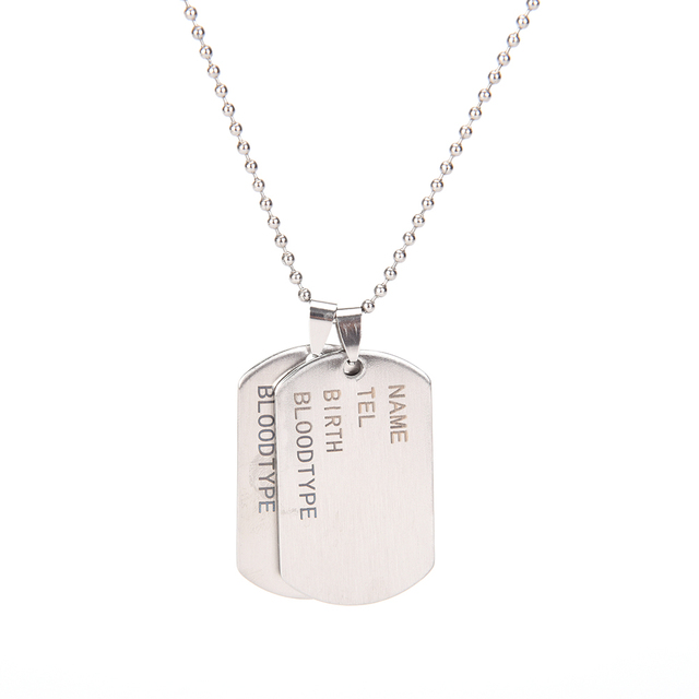 Unique designer stainless steel mens nameplate military army style unique designer stainless steel mens nameplate military army style dog tags chain mens pendant necklace jewelry aloadofball Images