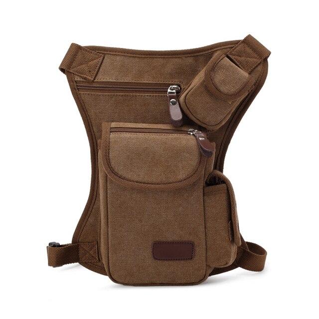 2016 Novo saco homens Pacote de Cintura perna saco da cintura militar dos homens sacos de viagem passeio saco Da cintura Da Lona Bolsa Coxa
