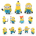 2015 Real Minions Minion Minecraft Toys Despicable Me Small People Cartoon Pvc Doll 4cm, Play Animation