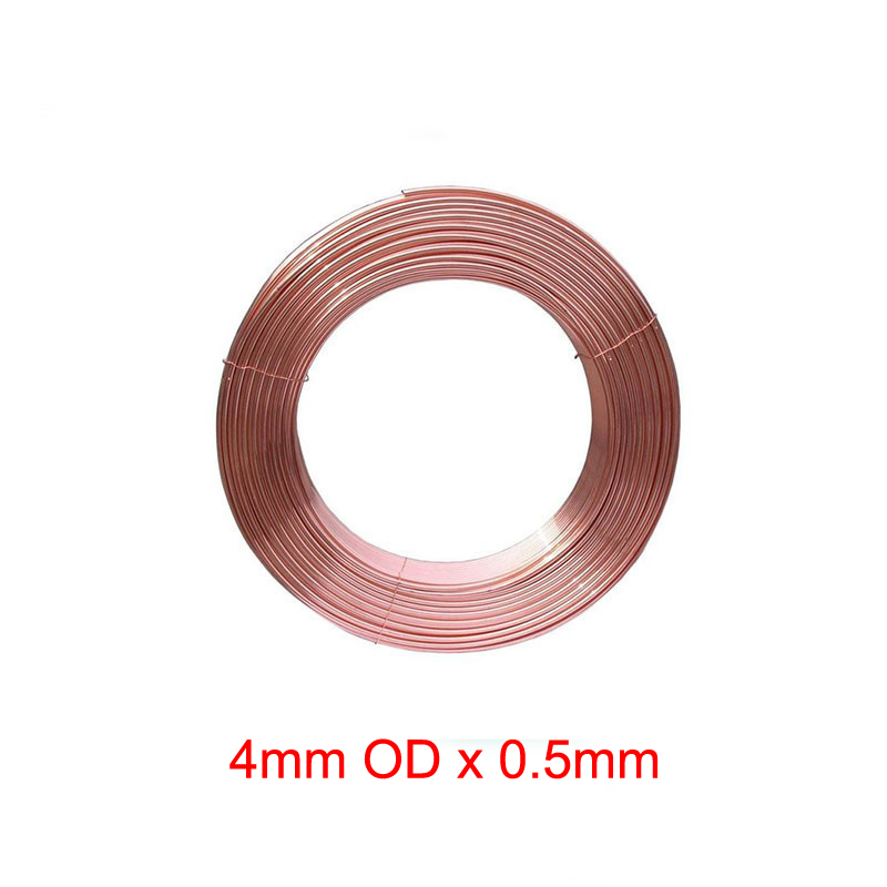 4mm Outer Diameter x 0.5mm Thickness Soft copper tube metal hose air conditioner pipe high quality extension pipe hose soft tube