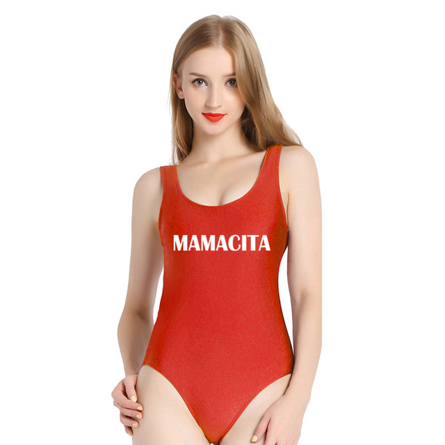 9732070fde2 MAMACITA SWIMSUIT Women Sexy Bodysuit One Piece suits Funny Tumblr Graphic  Jumpsuit Rompers Shirts Swimwear Bathing suit(S167)