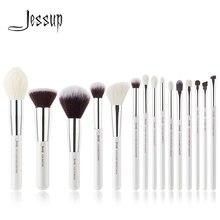 ジェサップパールホワイト/シルバープロ化粧ブラシブラシツールキットファンデーション点描自然な人工毛