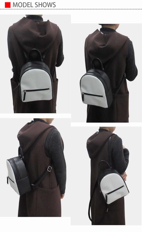Колледж студент мини школьная сумка Для женщин рюкзак 3D Мопс Хаски печати подросток Bookbag девочек-подростков PU Leathe сумка