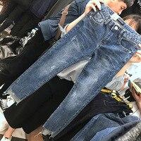High Waist Boyfriend Jeans Women Fashion Jeans Ladies Denim Ankle Length Harem Pants Casual Forking Jeans Plus Size