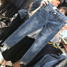 High Waist Boyfriend Jeans Women Fashion Ladies Denim Ankle Length Harem Pants Casual Forking Plus Size