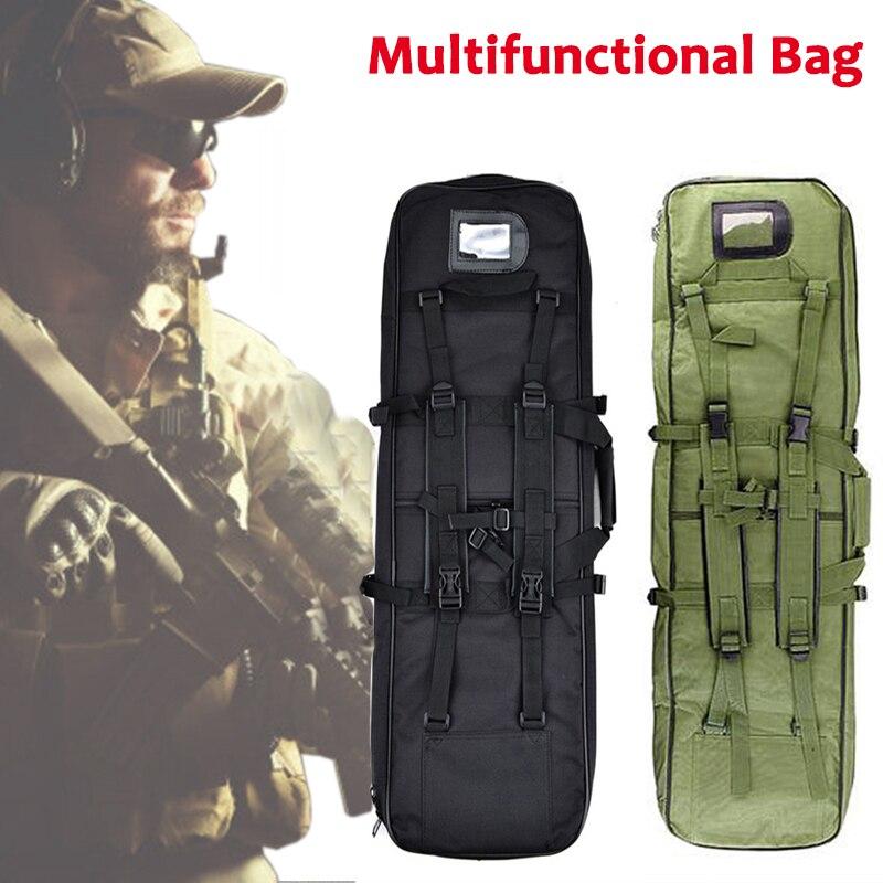 Outdoor Multifunctional Backpack About 118cm Camping Hiking Sport Shoulder Bag Tactical Nylon Rifle Gun Holster Gun Carry Bag