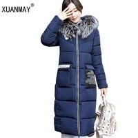 새로운 높은 품질 겨울 여성 긴 섹션 다운 재킷 코트 도톰한 따뜻함 패션